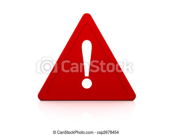 signe, avertissement - csp2678454