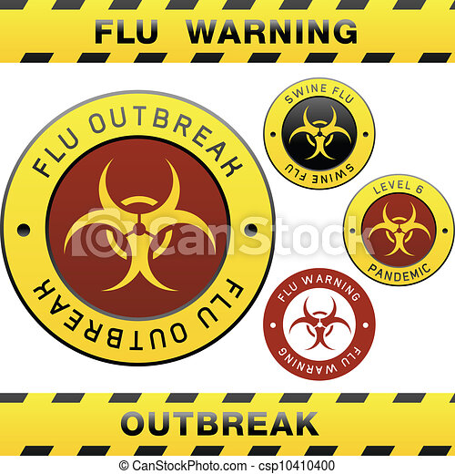 signe, avertissement, porcs, grippe - csp10410400