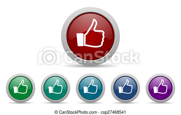 signe, haut, pouce, icône, aimer - csp27468541