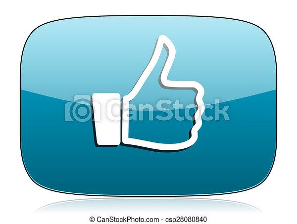 signe, haut, pouce, icône, aimer - csp28080840