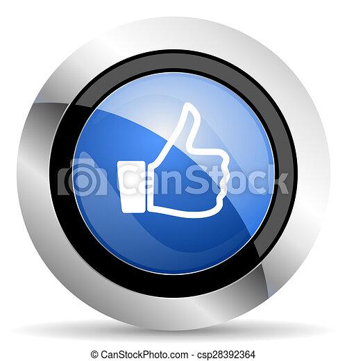 signe, haut, pouce, icône, aimer - csp28392364