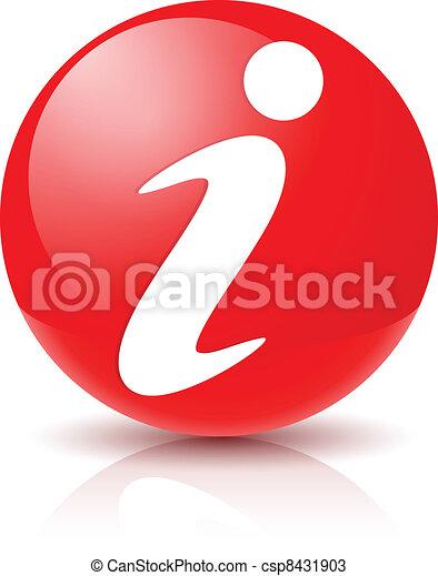 signe, icône, information - csp8431903