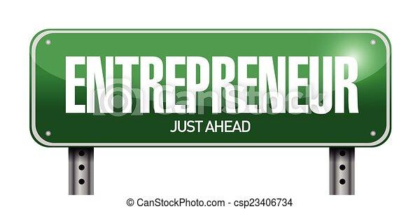 signe, illustration, entrepreneur - csp23406734