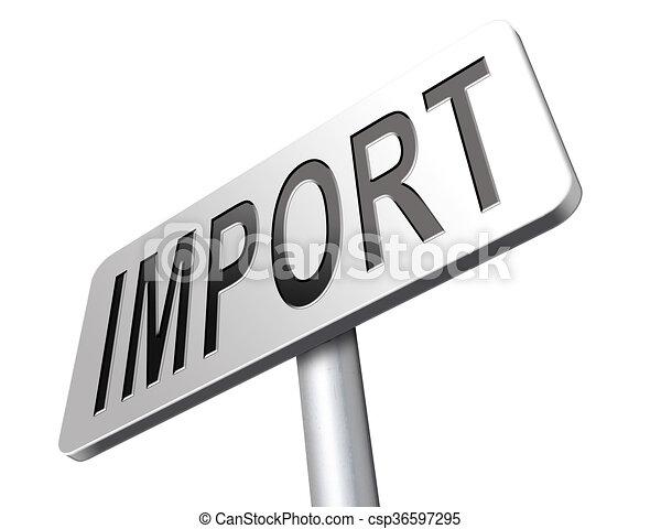 signe, importation - csp36597295