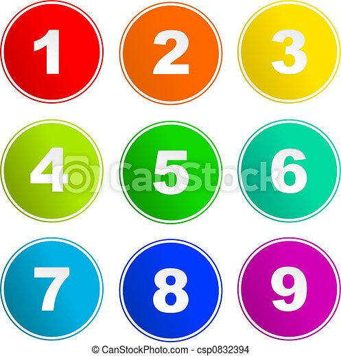 signe, nombre, icônes - csp0832394