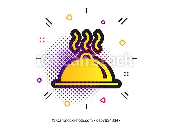 signe, nourriture, vecteur, table, plat, servir, icon., setting. - csp76343347
