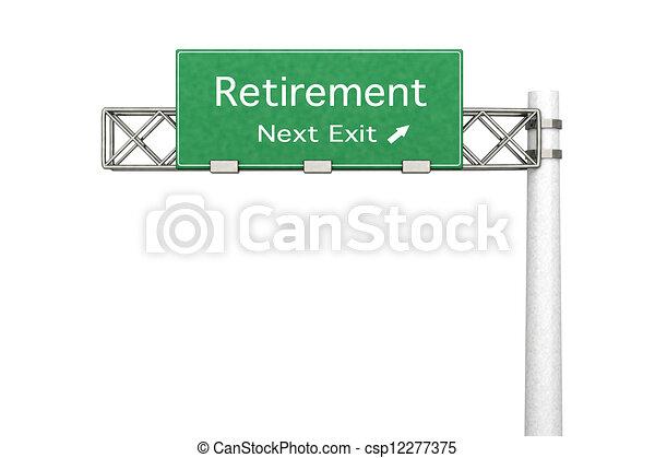 signe route, retraite, - - csp12277375