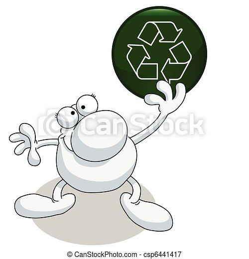 signe tenue homme, recyclage - csp6441417