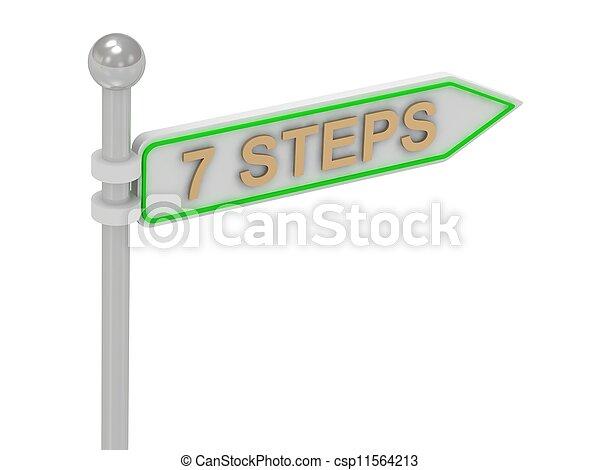 "signes, ""7, or, steps"" - csp11564213"