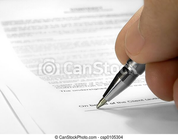 Signing contract - csp0105304