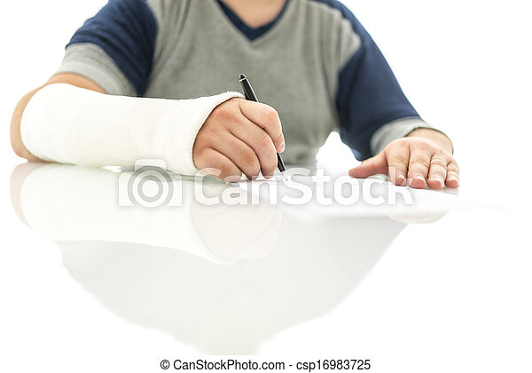 Signing insurance claim - csp16983725