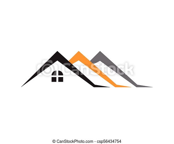 Propiedad y logotipo de construcción para el signo corporativo - csp56434754