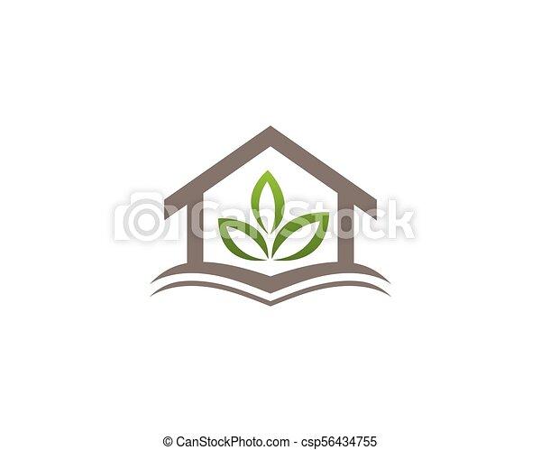 Propiedad y logotipo de construcción para el signo corporativo - csp56434755