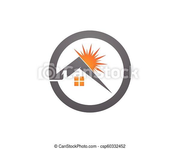 Diseño de Propiedad y Logo de Construcción para el letrero empresarial - csp60332452