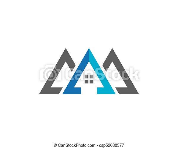 Diseño de Propiedad y Logo de Construcción para el letrero empresarial - csp52038577