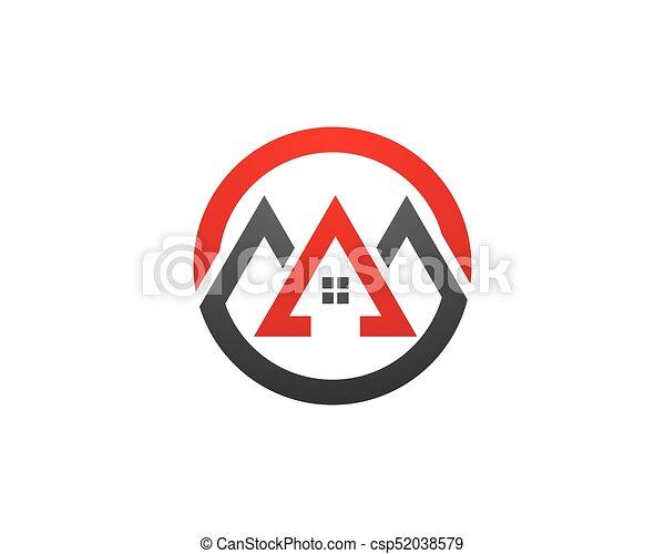 Diseño de Propiedad y Logo de Construcción para el letrero empresarial - csp52038579