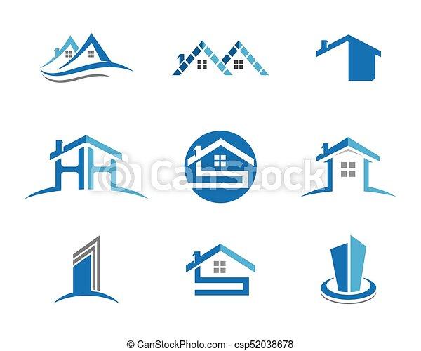Diseño de Propiedad y Logo de Construcción para el letrero empresarial - csp52038678