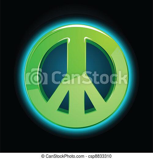 Signo de paz - csp8833310