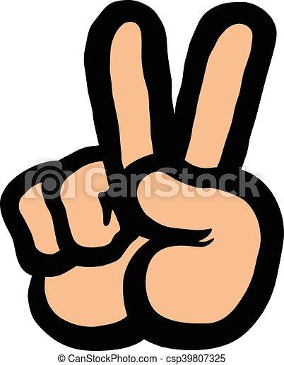 Mano de signo de paz - csp39807325