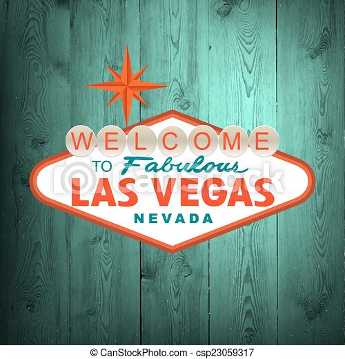 El cartel de Las Vegas. Vector - csp23059317