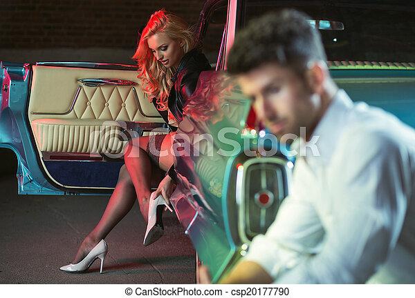 signora, sexy, mettere, sensuale, vestiti - csp20177790