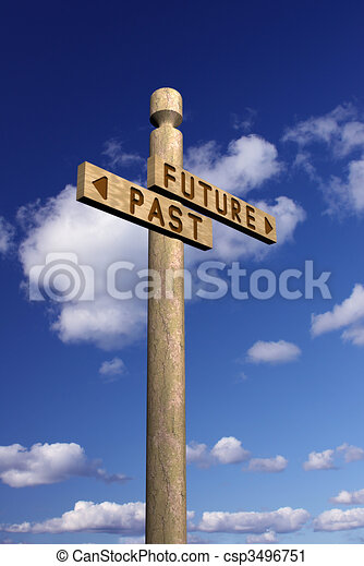 Signpost for future and past - csp3496751