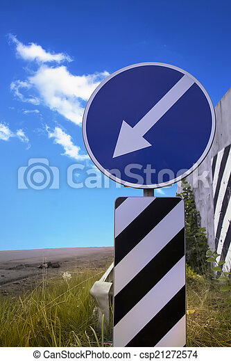 signpost on background blue sky - csp21272574