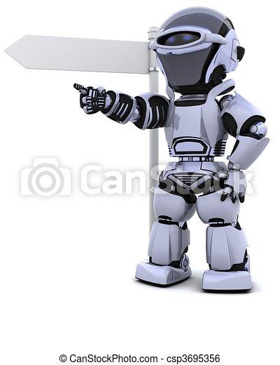 signpost, robô - csp3695356