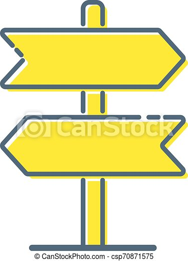 Signpost vector icon, direction arrow symbol. Simple illustration for web or mobile app - Vector - csp70871575