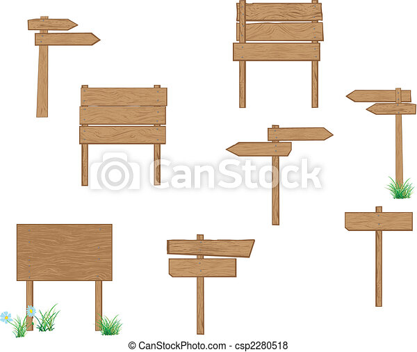 Holzzeichen braun - csp2280518
