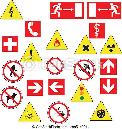 signs mix illustration - csp5142914