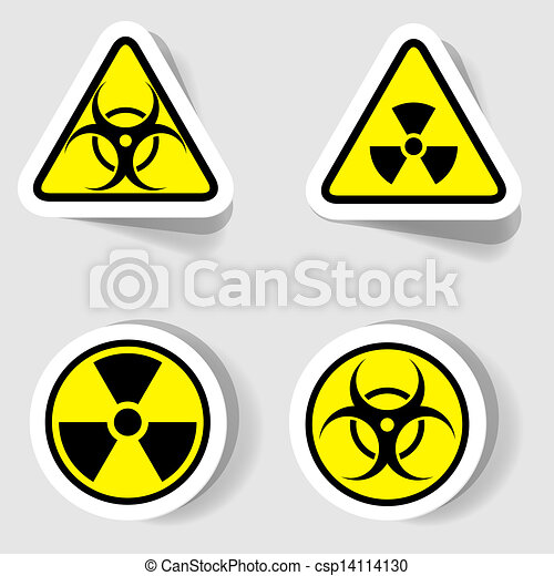 signs of biological and radioactive contamination - csp14114130