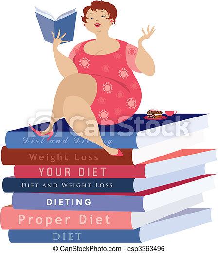 Sentado en la dieta - csp3363496