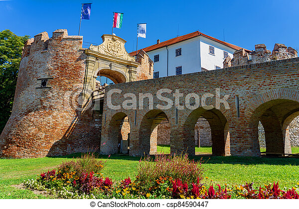 Siklos castle on a beautiful summer day in Hungary - csp84590447