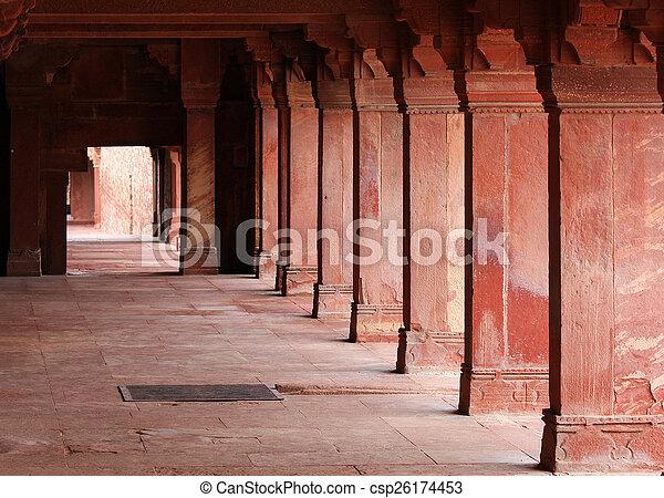 sikri, fatehpur, indie, uttar, jama, agra, masjid, pradesh - csp26174453
