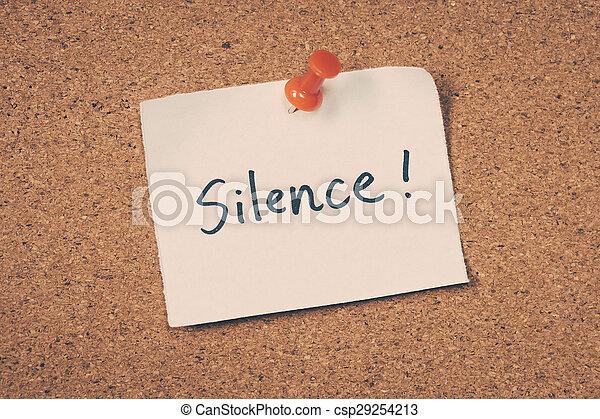 Silence - csp29254213