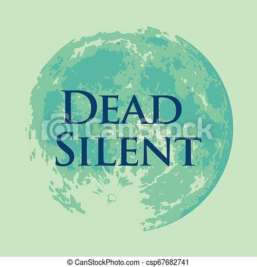 silencieux, entiers, mort, lune, vecteur, illustration - csp67682741