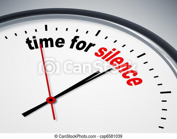 Hora del silencio - csp6581039