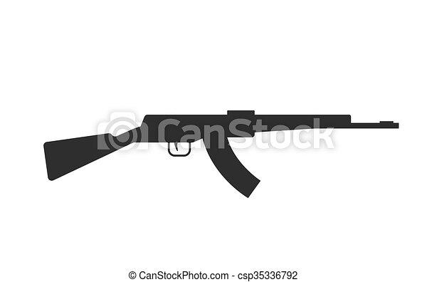 silhouette 47 ak gewehr freigestellt maschine schwarz eps vektoren suche clipart. Black Bedroom Furniture Sets. Home Design Ideas