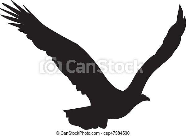 silhouette aigle diffusion vol ailes