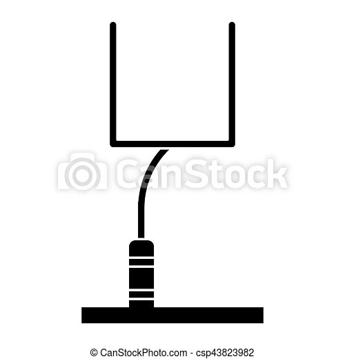 silhouette american football goal post vector illustration vector rh canstockphoto com  football goal post clipart free