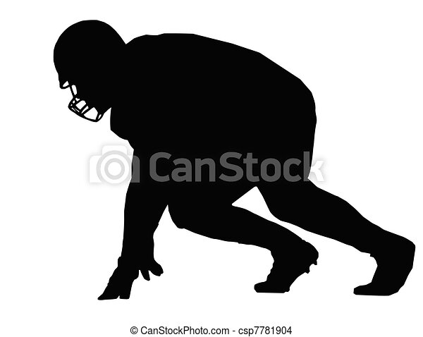 silhouette american football player scrimmage silhouette Lineman Stickers Decals Lineman Sticker Ideas