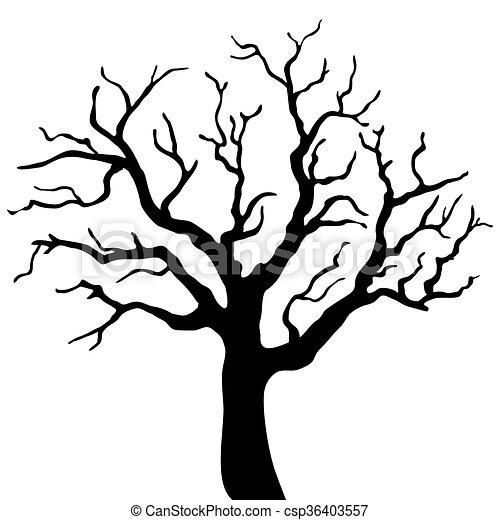 silhouette arbre isol233 arri232replan noir blanc