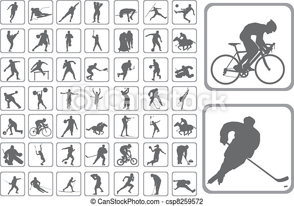 silhouette, atleta - csp8259572