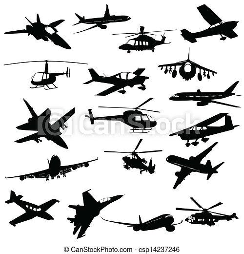 Silhouette aviation - csp14237246
