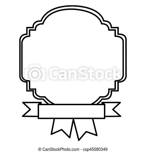silhouette border heraldic decorative with ribbon vector eps rh canstockphoto com decorative clipart decorative clip art for poems