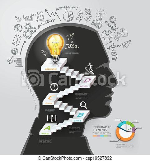 Silhouette businessman thinking. - csp19527832
