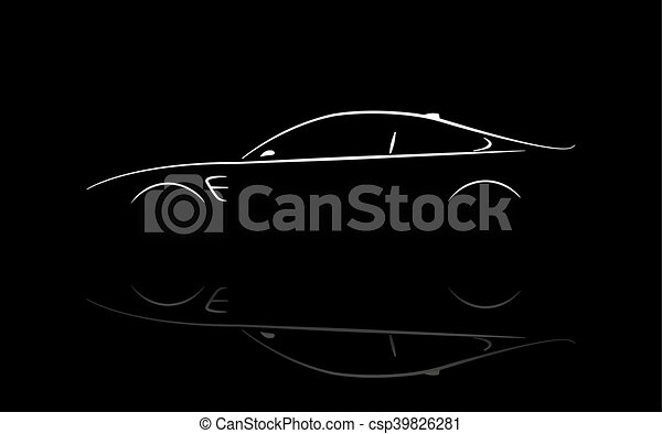 Silhouette car coupe - csp39826281