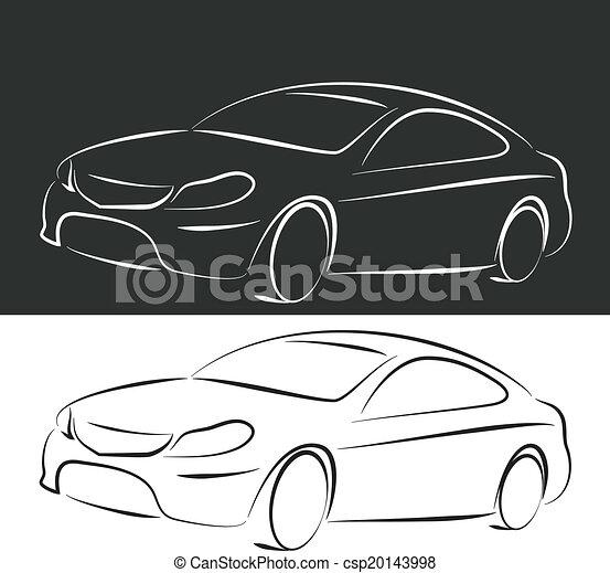 silhouette car - csp20143998