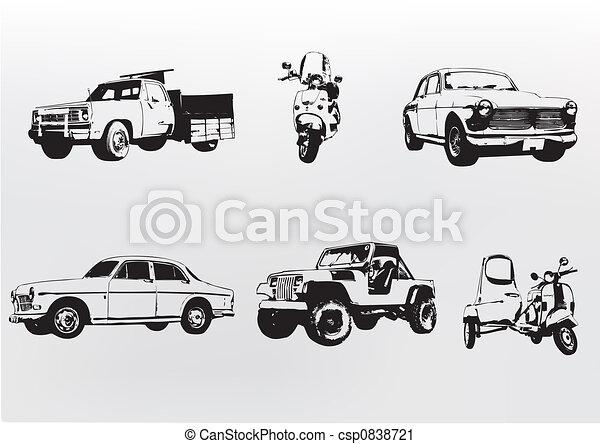 Silhouette cars. - csp0838721